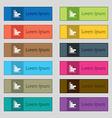 Infographic icon sign Set of twelve rectangular vector image