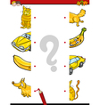 educational activity task of halves vector image