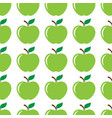 apple green seamless pattern background vector image
