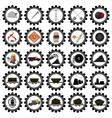 Badges coal industry-1 vector image