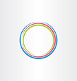 circle colorful frame icon background design vector image
