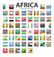 Glossy button flags - Africa Original colors vector image