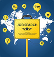 Job search infographics vector image