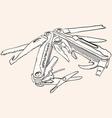 Knife Multi Tool vector image
