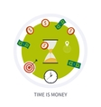 Time is money business concept in modern flat vector image