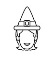 woman vintage hat vector image