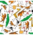 African and jungle cartoon safari animals vector image vector image