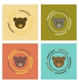 assembly flat icons nature bear logo vector image