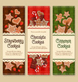 gingerbread cookies and biscuits banners vector image