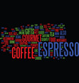 Gourmet espresso coffee gifts mmm mmm good text vector image