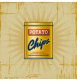 Retro Potato Chips Can vector image vector image