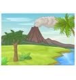 Prehistoric landscape vector image