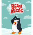 Penguin at the arctic ground vector image