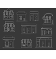 Store buildings chalk vector image