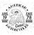 American Eagle Motorcycle Emblem vector image