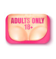 banner for adult content vector image