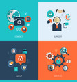Business customer care service vector image