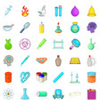 chemical equipment icons set cartoon style vector image