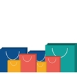 collection bag gift present design vector image