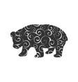 panda bear mammal color silhouette animal vector image