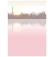 Paris River Seine View vector image