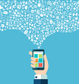 Smart phone apps and cloud technology vector image