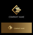 square line gold business finance logo vector image