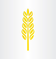 wheat grain stylized icon design vector image