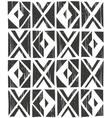 seamless geometric pattern Hand drawn vector image vector image