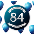 Silver number eighty four years anniversary vector image