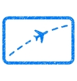Plane Route Grainy Texture Icon vector image