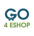 go shopping logo design template vector image