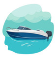 high speed motor boat sailing in sea vector image