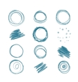 Set of scribbles for your design vector image vector image