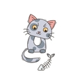 Cute cat character Satisfied fed kitten vector image