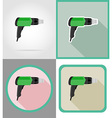 electric repair tools flat icons 04 vector image vector image