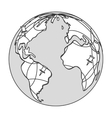 earth globe with pins icon vector image