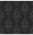 Black 3d Floral Damask Seamless Pattern vector image