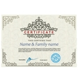 Certificate modern design template vector image