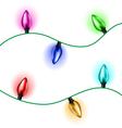 Christmas light set vector image