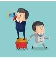 Colorful businessman cartoon design vector image
