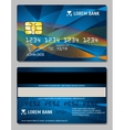 Credit cards design template vector image