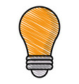 drawing bulb idea light creative vector image