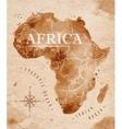 Map Africa retro vector image