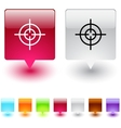 sight square button vector image