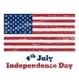 USA flag vintage 4 July vector image