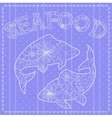 Seafood background vector image vector image