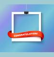Enjoy every moment polaroid photo hanged vector image