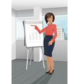Businesswoman giving a presentation vector image