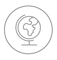 World globe on stand line icon vector image